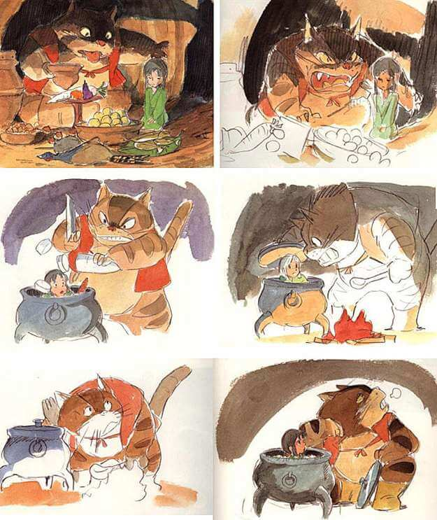 映画化希望!!誰もが知っている『もののけ姫』とは異なる1980年に制作された『もののけ姫』のストーリーボードが面白い!!